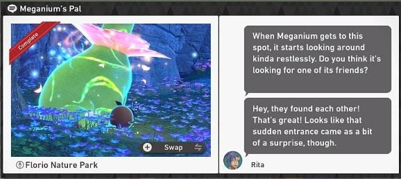 pokemon snap florio nature park requests meganium's pal