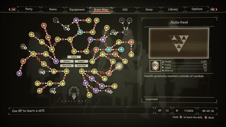 best scarlet nexus brain map skills auto-heal