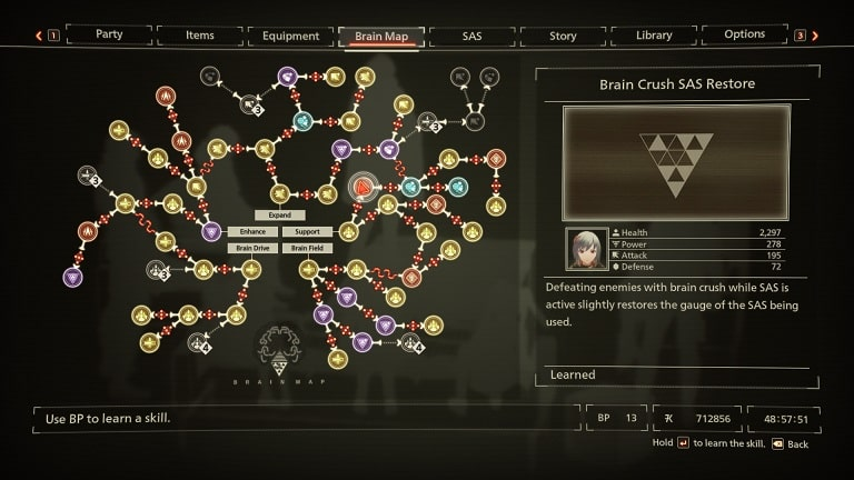best scarlet nexus brain map skills brain crush sas restore