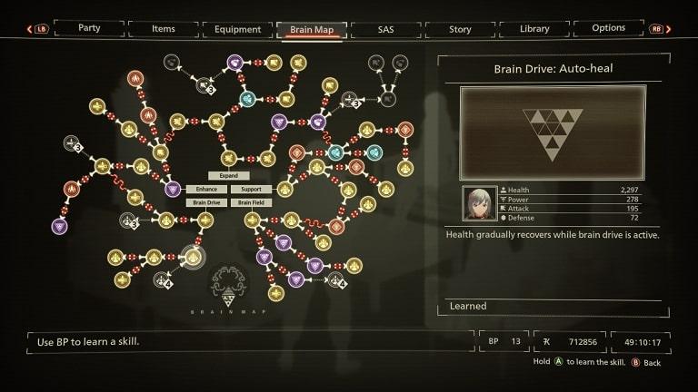 best scarlet nexus brain map skills