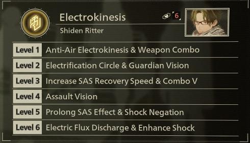 scarlet nexus best sas skills electrokinesis