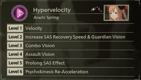 scarlet nexus best sas skills hypervelocity