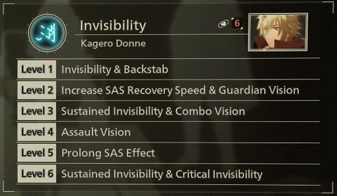 scarlet nexus best sas skills invisibility
