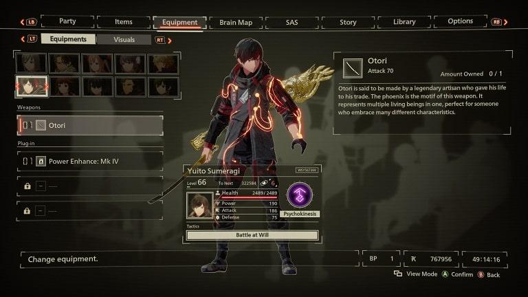 scarlet nexus best weapons otori yuito