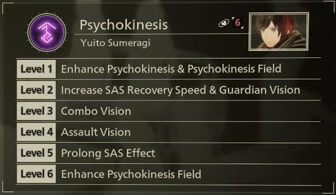 scarlet nexus best sas skills psychokinesis