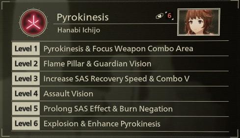 scarlet nexus best sas skills pyrokinesis
