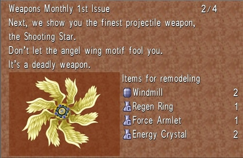 final fantasy 8 best weapons shooting star
