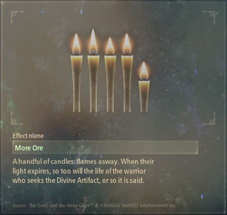 tales of arise artifacts 15 quivering candles