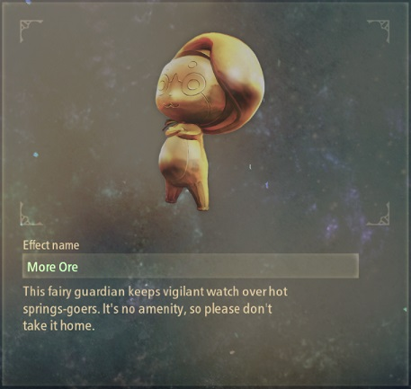 tales of arise artifacts 16 golden fairy statue