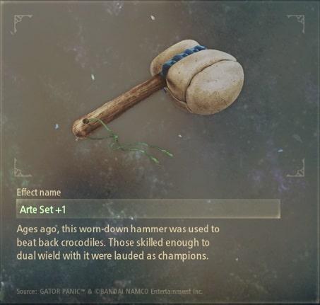 tales of arise artifacts 1 crocodile crusher