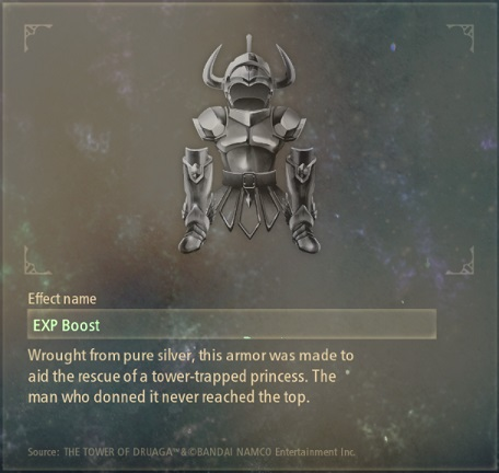tales of arise artifacts 6 silver suit of armor